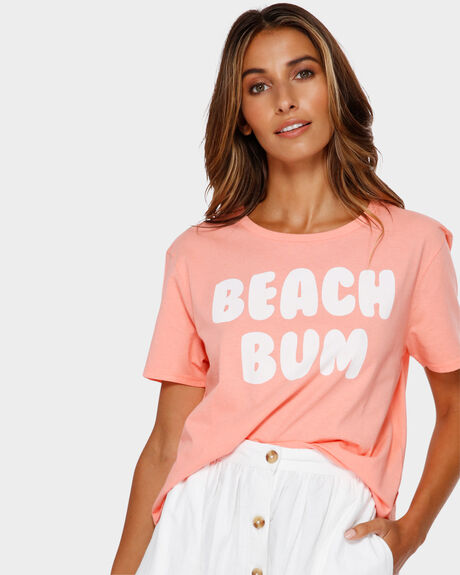 BEACH BUM CROP TEE