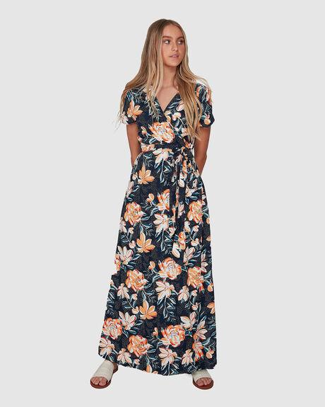 WOMENS MORE JOY SHORT SLEEVE MAXI DRESS