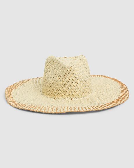 STITCHED STRAW HAT