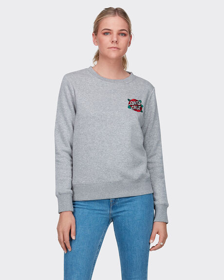 Rose Embroidered Crew - Smu
