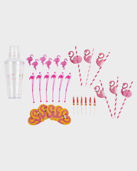 FLAMINGO COCKTAIL PARTY KIT