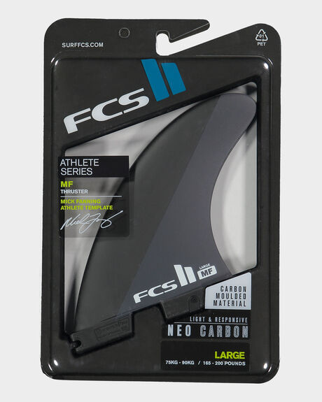 FCS II MF NEO CARBON BLACK/WHITE LARGE TRI FINS