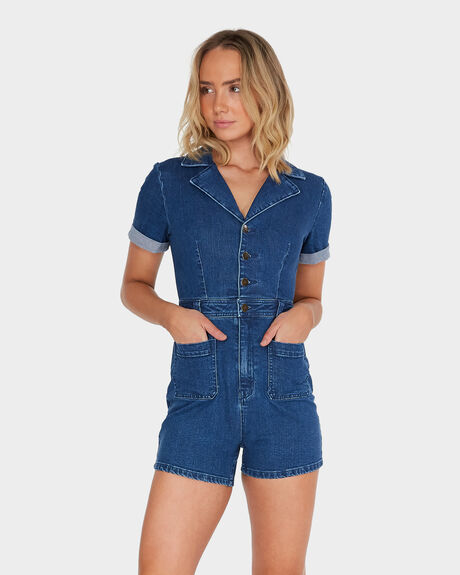 AFENDS GIGI DENIM JUMPSUIT