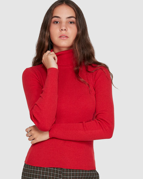 ROLLNECK KNIT TOP