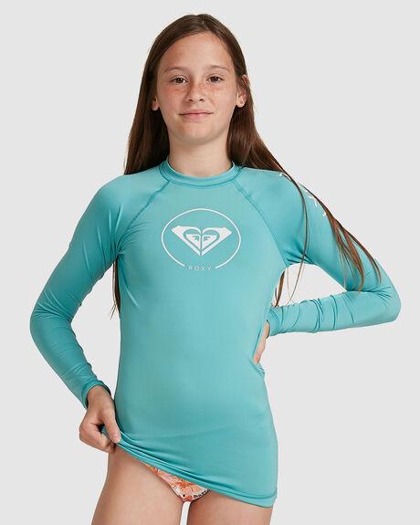 GIRLS 8-16 BEACH CLASSICS LONG SLEEVE UPF 50 RASH VEST