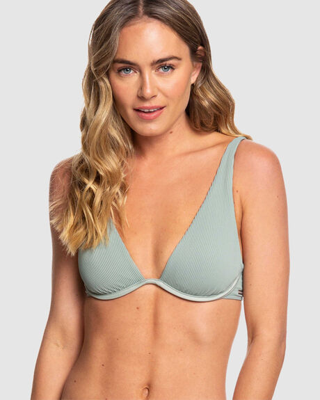 ULUWATU WAVES UNDERWIRED ELONGATED TRIANGLE BIKINI TOP