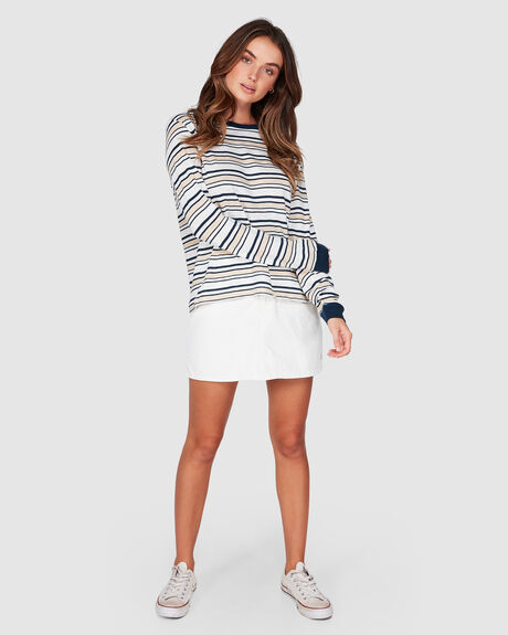 THE OCEAN IS MINE STRIPED LONG SLEEVED TEE