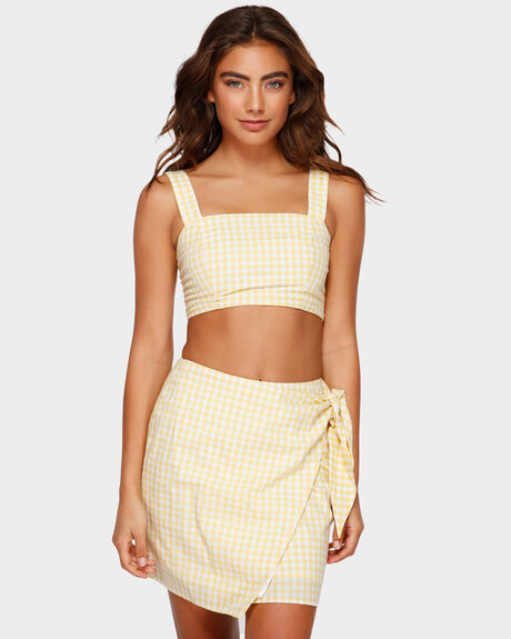 LEMON WRAP SKIRT