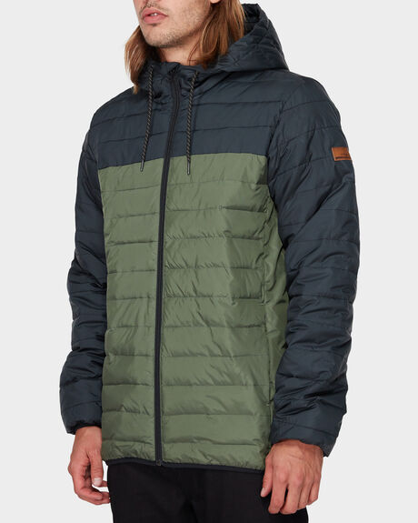 SCALY HOODED PUFFER JACKET