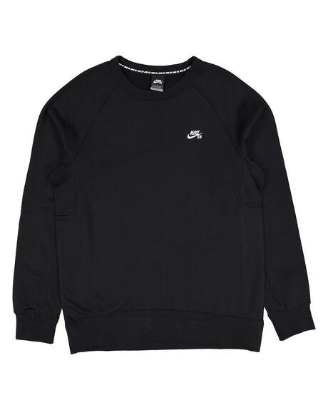 Sb Icon Crew Fleece Black/White