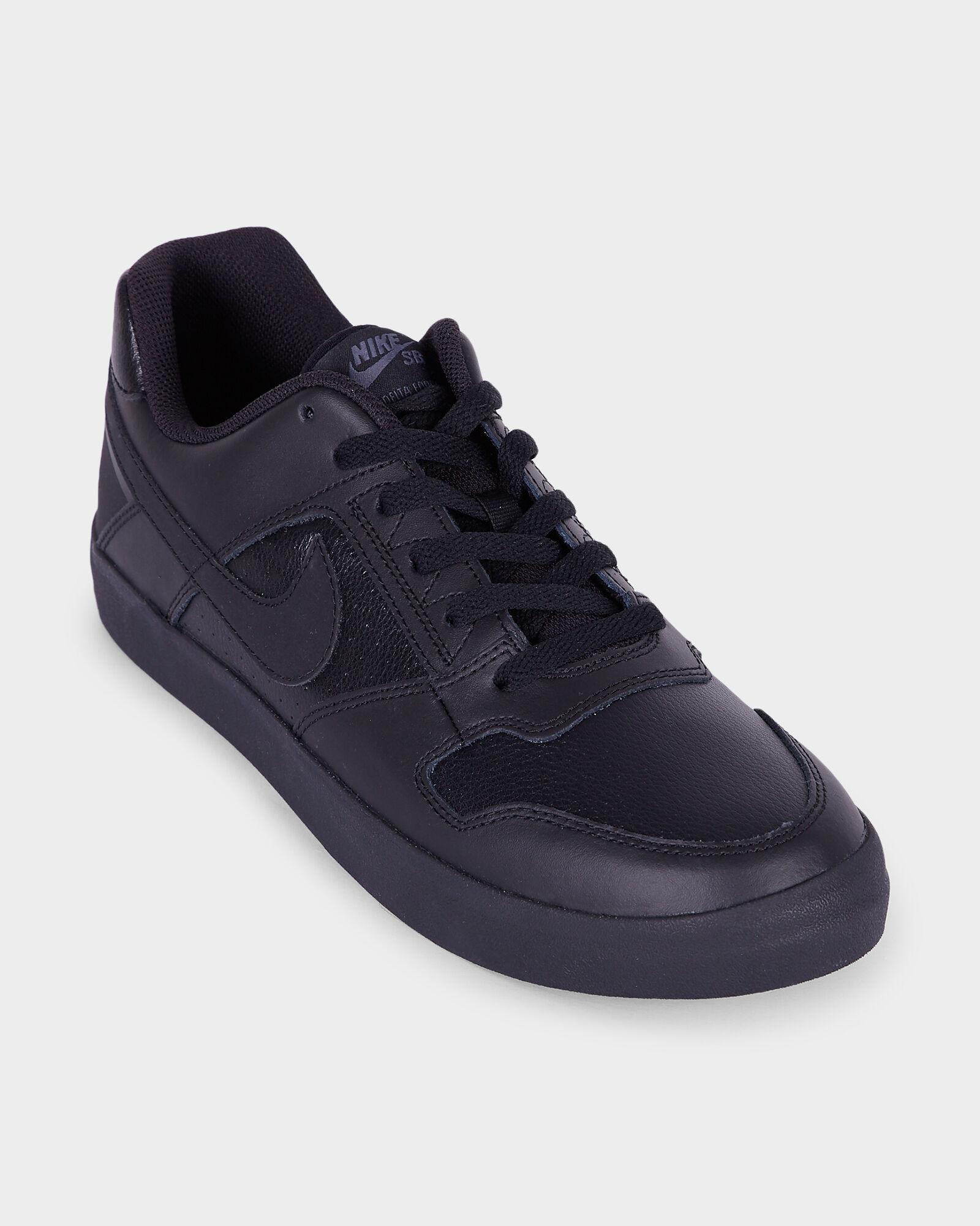 all black leather nike