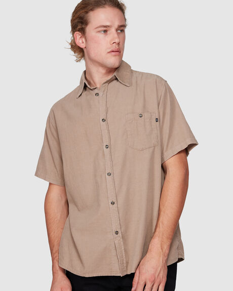 STRUM SHORT SLEEVE CORDUROY SHIRT