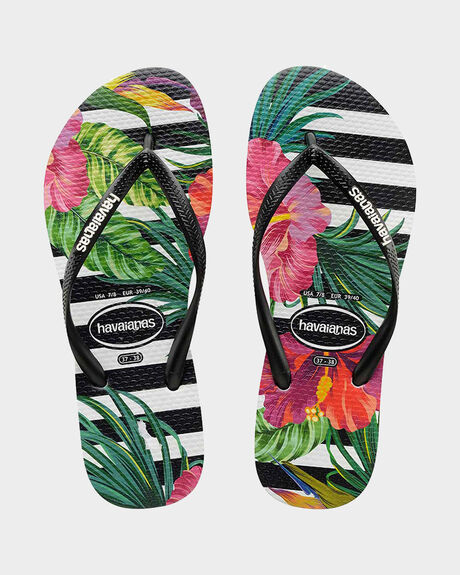 KIDS SLIM FLORAL TROPICAL (LEAF) THONG