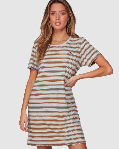 COMMUNE STRIPE DRESS - CEMENT