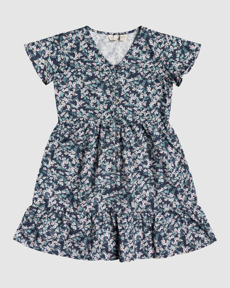 GIRLS THIRD OF WAY BUTTONED DRESS