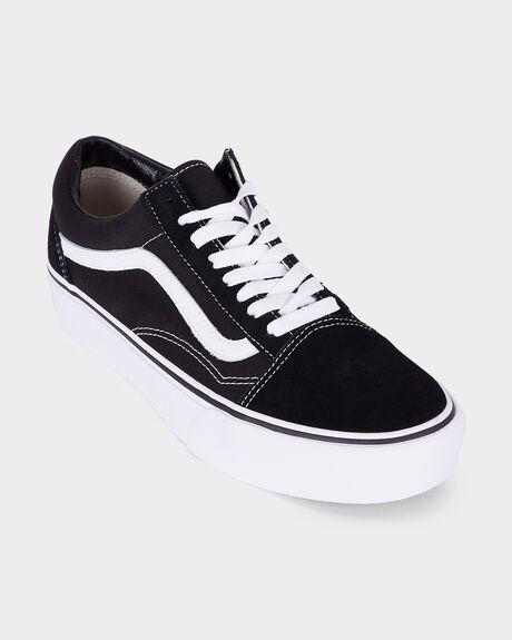 OLD SKOOL VANS PLATFORM BLACK/WHITE SHOE