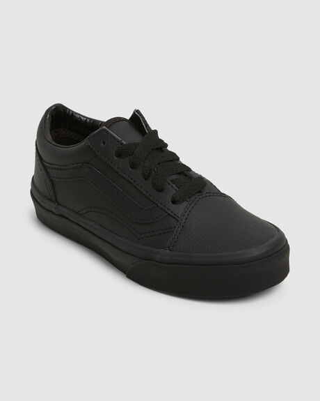 YOUTH OLD SKOOL LEATHER BLK MO