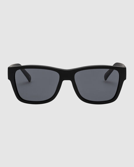 THE FORCE  BLACK RUBBER SMOKE MONO POLARIZED MODERN RECTANGLE