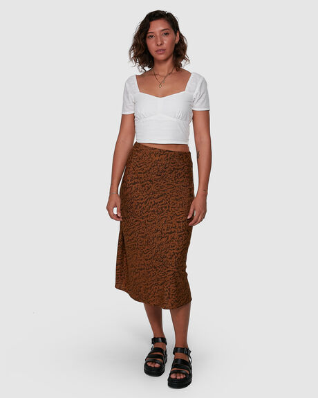 WOMENS NO MATTERS MIDI SKIRT