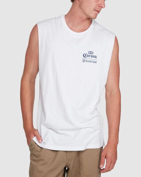 CORONA MUSCLE TEE WHITE