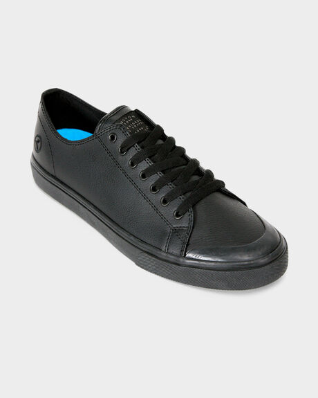 KUSTOM SLIM VULC BLACK VEGAN LEATHER SHOE