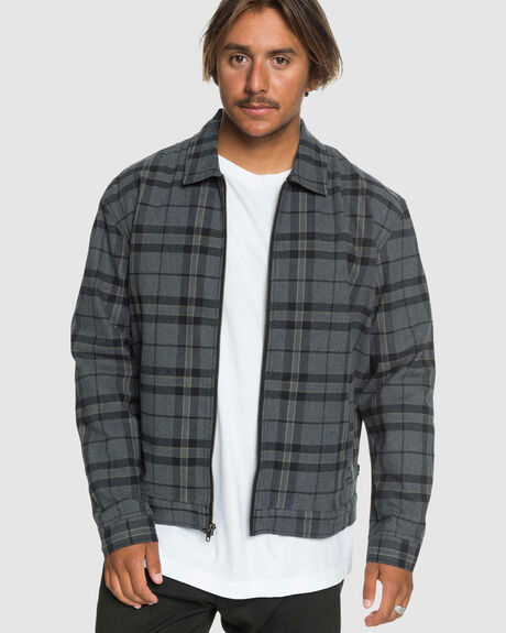 MENS CHECK DROP SHOULDER JACKET