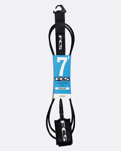 FCS 7' REGULAR LEASH (7MM) BLACK