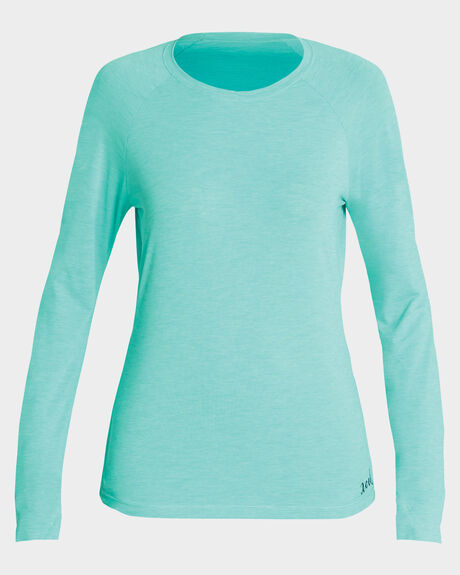 WOMENS HEATHER VENTX SOLID L/S
