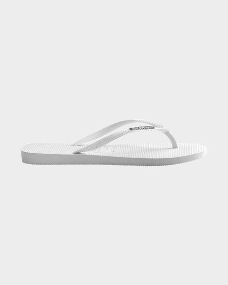 89979e936729dc White Silver HAVAIANAS SLIM METAL LOGO WHITE SILVER THONG