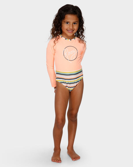 GIRLS LETS GO SURFING LONG SLEEVE ONESIE
