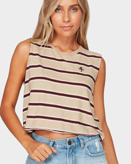 ZEPPELIN CROP MUSCLE TEE