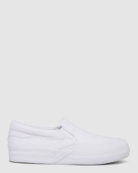 KIDS DC INFINITE SLIP-ON LEATHER SHOES