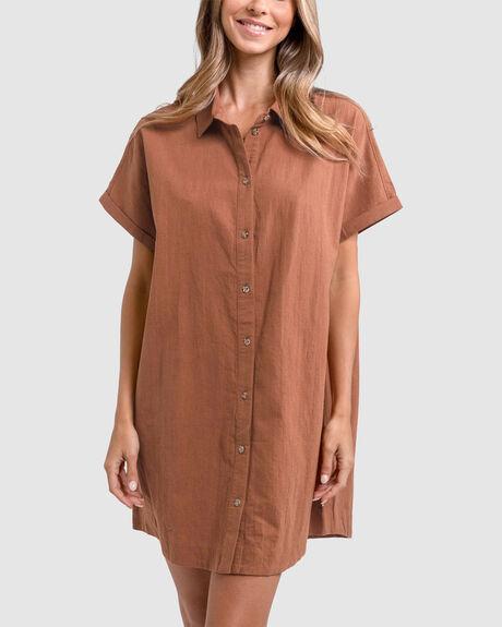 CLASSIC LINEN SHIRT DRESS
