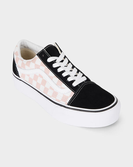 VANS OLD SKOOL PLATFORM CHECKERBOARD SHOE