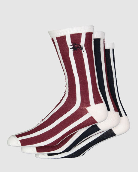 VERTICAL STRIPE SOCK 3PK