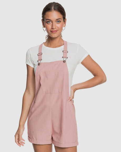 WOMENS SOMEBODY NEW LINEN PINAFORE PLAYSUIT