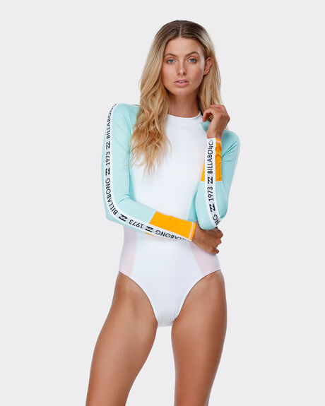 THROWBACKS LONG SLEEVE ONE PIECE RASHGUARD