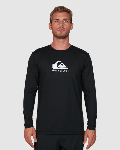 MENS SOLID STREAK LONG SLEEVE UPF 50 SURF T-SHIRT