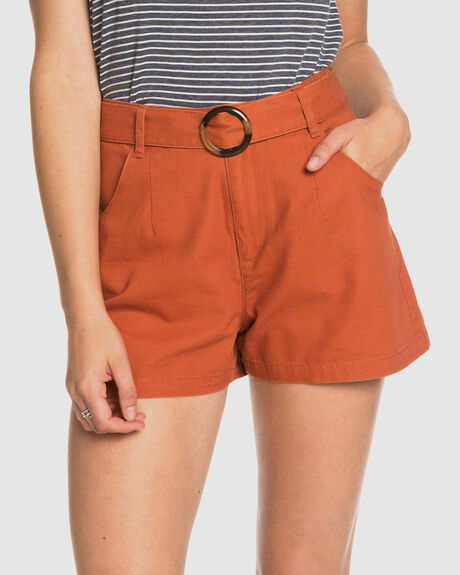 WOMENS TRUST AND SMILE HIGH WAISTED SHORTS