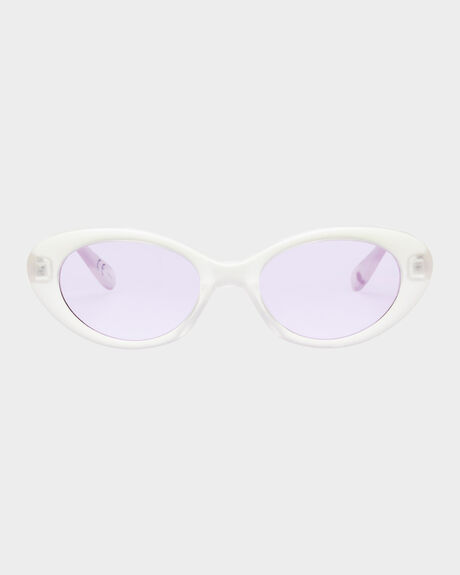 RECOVERY  HOLOGRAM LILAC TINT OVAL SUNGLASSES