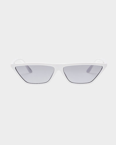 RECALL  WHITE SMOKE MONO CATS EYE SUNGLASSES