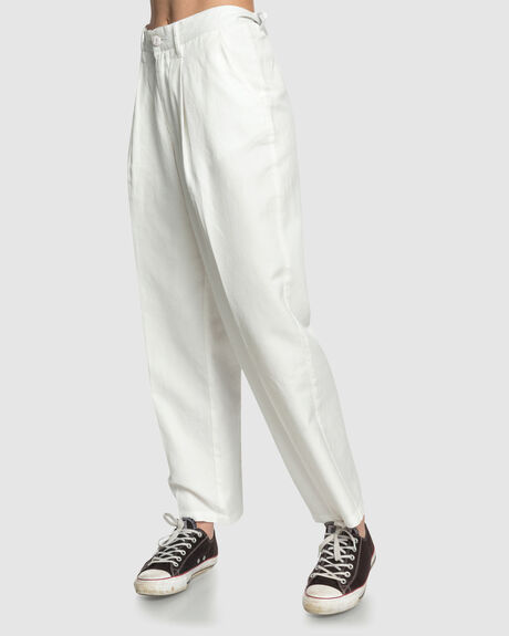 WOMENS HIGH WAISTED TAPERED TROUSERS