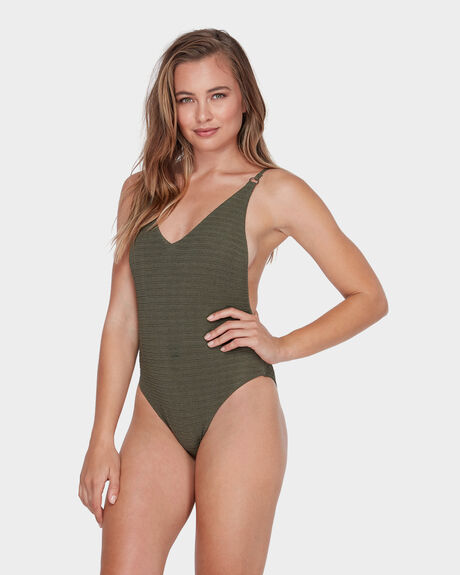 f2345c6f76 Olive NO HURRY ONE PIECE | Surf, Dive 'N' Ski