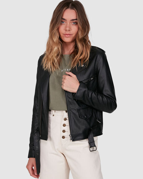 STRANGER VEGAN LEATHER BIKER J