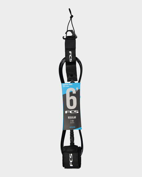 FCS 6' REG ESSENTIAL LEASH BLACK