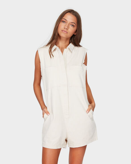 MILITARY SLEEVLESS ROMPER