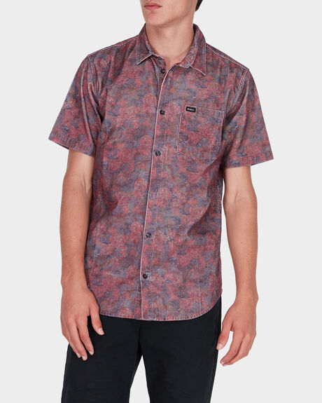 MARBLES FLORAL CORD SHORT SLEEVE SHIRT