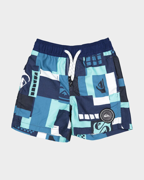 "BOYS CITY BLOCK 12"" VOLLEY BOARDSHORT"