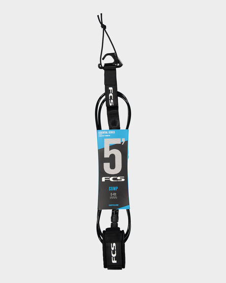 FCS 5' COMP ESSENTIAL LEASH BLACK