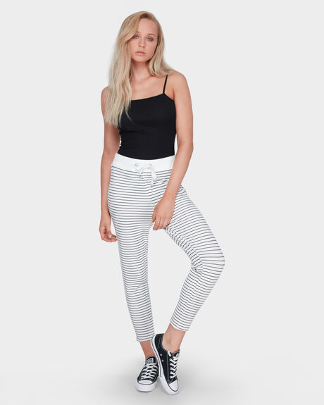 STRIPE CROP TRACK PANT
